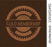 gold membership vintage wooden... | Shutterstock .eps vector #1151651492