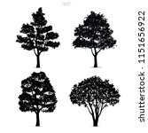 set of tree silhouettes... | Shutterstock .eps vector #1151656922