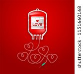 blood bag red color and love... | Shutterstock .eps vector #1151660168