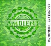 ambient green emblem. mosaic... | Shutterstock .eps vector #1151667098