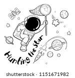 astronaut hand drawn | Shutterstock .eps vector #1151671982