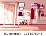 vector cartoon home interior ...   Shutterstock .eps vector #1151675045
