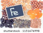 inscription fe and natural... | Shutterstock . vector #1151676998