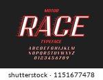 retro style speedy typfeface ... | Shutterstock .eps vector #1151677478