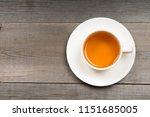 White Organic Green Tea Cup On...