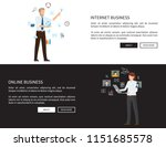internet online business web... | Shutterstock .eps vector #1151685578