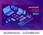 vector 3d isometric template of ... | Shutterstock .eps vector #1151686142