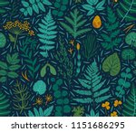 vector seamless pattern with... | Shutterstock .eps vector #1151686295