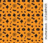 halloween wallpaper  seamless... | Shutterstock .eps vector #1151689655