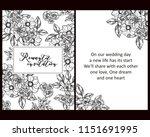 romantic wedding invitation... | Shutterstock .eps vector #1151691995