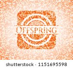 offspring abstract orange... | Shutterstock .eps vector #1151695598