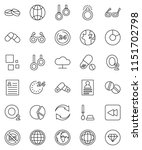 thin line vector icon set  ... | Shutterstock .eps vector #1151702798