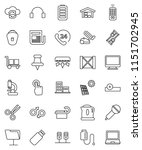 thin line vector icon set  ... | Shutterstock .eps vector #1151702945