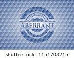 aberrant blue hexagon badge.   Shutterstock .eps vector #1151703215
