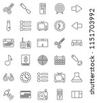 thin line vector icon set  ... | Shutterstock .eps vector #1151703992