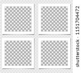collection of photo frame with... | Shutterstock .eps vector #1151704472