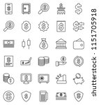 thin line vector icon set  ... | Shutterstock .eps vector #1151705918