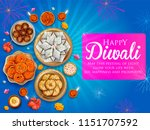 illustration of burning diya... | Shutterstock .eps vector #1151707592