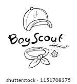 boy scout hand drawn | Shutterstock .eps vector #1151708375