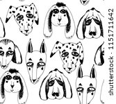 vector naive hand drawn breed... | Shutterstock .eps vector #1151711642