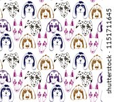 vector naive hand drawn breed... | Shutterstock .eps vector #1151711645