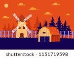 beautiful horizontal farm field ... | Shutterstock .eps vector #1151719598
