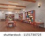 reading hall interior. 3d... | Shutterstock . vector #1151730725