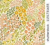 vector flower seamless pattern. ... | Shutterstock .eps vector #1151731655