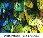 monstera paper foliage... | Shutterstock . vector #1151733068