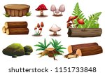 a set of wood element... | Shutterstock .eps vector #1151733848
