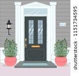 front door house exterior... | Shutterstock .eps vector #1151734595