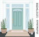 front door house exterior... | Shutterstock .eps vector #1151734598