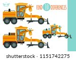 find differences game. vector... | Shutterstock .eps vector #1151742275