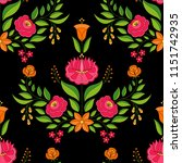 hungarian folk pattern vector... | Shutterstock .eps vector #1151742935