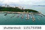 topview marine station luxury...   Shutterstock . vector #1151753588