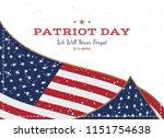 patriot day september 11. 2001... | Shutterstock .eps vector #1151754638