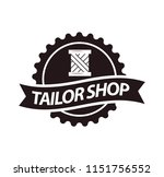 tailor shop or dressmaker... | Shutterstock . vector #1151756552