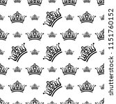 crown icon seamless pattern ... | Shutterstock .eps vector #1151760152