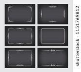 set of vintage borders in... | Shutterstock .eps vector #1151769812