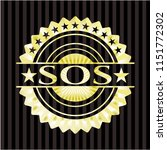 sos golden badge or emblem | Shutterstock .eps vector #1151772302