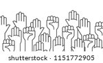 fists hands up vector... | Shutterstock .eps vector #1151772905