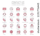 collection of contact us thin... | Shutterstock .eps vector #1151776445