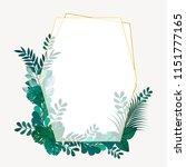 frame picture leaves green...   Shutterstock .eps vector #1151777165