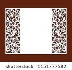 laser cut template of openwork... | Shutterstock .eps vector #1151777582