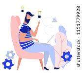 creative man generate idea.... | Shutterstock .eps vector #1151779928
