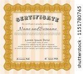 orange certificate. with... | Shutterstock .eps vector #1151780765