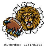 a lion angry animal sports... | Shutterstock .eps vector #1151781938