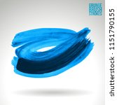 blue brush stroke and texture.... | Shutterstock .eps vector #1151790155