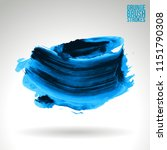 blue brush stroke and texture.... | Shutterstock .eps vector #1151790308