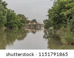 river is a large natural water. ... | Shutterstock . vector #1151791865